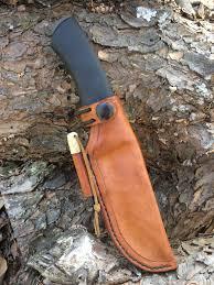 new leather sheath for my mora bushcraft black