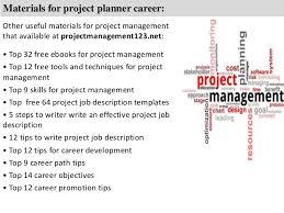 materials for project planner material planner job description