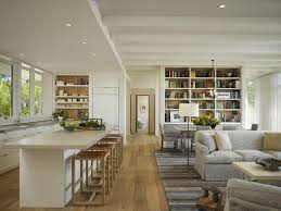 Kitchen And Family Room Kitchen Cozy Kitchen And Family Room Interior With Solid White