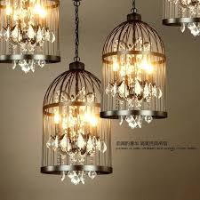 home improvement chandelier in birdcage vintage restaurant bird cage crystal lamp home bulb villa rust