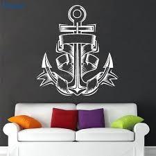 nautical wall murals nautical home decor anchor vinyl wall stickers art decals home decoration kids room