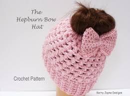 Bun Hat Crochet Pattern Amazing Hepburn Bow Hat Crochet Pattern Kerry Jayne Designs