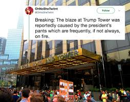 「trump tower fire」の画像検索結果