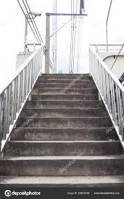 Steel Walkway Design Concrete Stairs Railing Stainless Steel Shining Effected