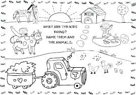Free Printable Farm Animals Coloring Pages Printable Farm Animal