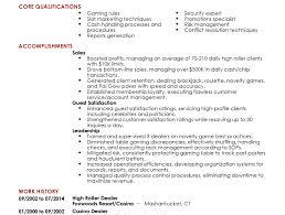 Resume Casino Dealer Resume For Housekeeping Housekeeping Resume Samples Cv Housekeeper 8
