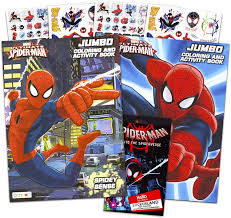Spiderman coloring pages fun coloring activity for children kids toddlers. Amazon Com Marvel Spiderman Coloring And Activity Book Set With Stickers 2 Books Toys Games