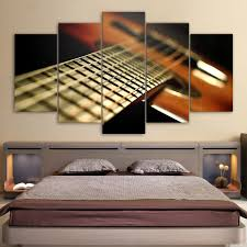 printed modular frame picture large canvas painting 5 panel instrument for bedroom living room home wall