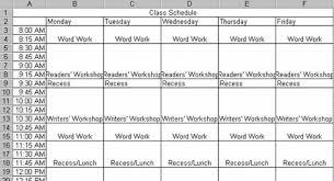 College Class Scheduler Creating A Class Schedule Using Excel