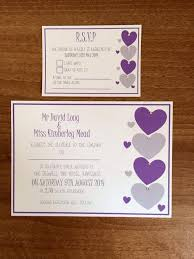 Rsvp Card Sizes Love Heart Wedding Invitation With Matching Inserts