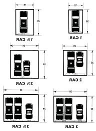 typical 2 car garage size door