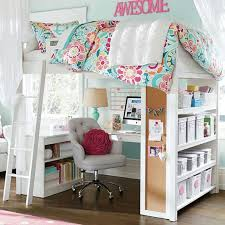 girls bed furniture. tufted desk chair and spacesaving deskbed idea girls bedroom furniturebedroom bed furniture