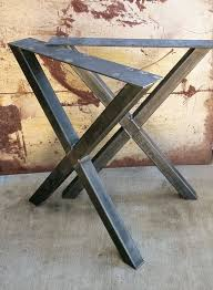 Steel table legs Fabrication Contemporary Steel Table Legs That Just Need Nice Clean Wood Counter Top Or Wood Slab Welds Are Carefully Welded So There Is Clean Smooth Pinterest Shape Thick Industrial Metal Table Legs 2x2 In 2019 Lakeshore