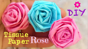How To Make Rose Flower With Tissue Paper How To Make Tissue Paper Roses Very Easy Diy