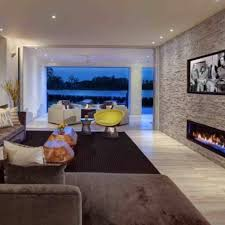 ideas for modern stacked stone accent walls