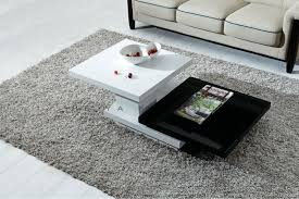 black and white center table for a modern living room grey area rug idea for