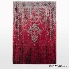 derelict ombre rug in berry distressed vintage rug