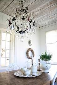 dining room crystal lighting. Cottage Dining Room With Crystal Chandelier Lighting : Cleaning Tips For O