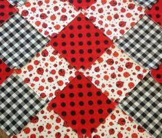 Baby Rag quilt kit 75 squares, 3 layers of flannel 8  each, pre ... & Lady bug baby quilt, fringed Rag quilt kit 75 pre cut 8.5