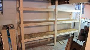 building basement storage shelves home