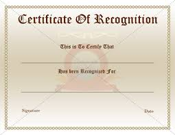 certificate of recognition templates certificate of appreciation or recognition award template samples