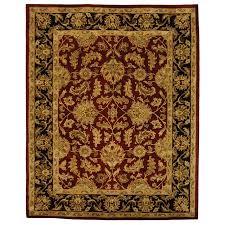 safavieh heritage kashan red black indoor handcrafted oriental area rug common 12 x
