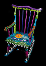 funky baby furniture. simple baby a whimsical customized childrens rocking chair created from a reclaimed  rocker sold to funky baby furniture r