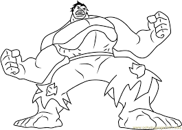 Small Picture Hulk Green Monster Coloring Page Free Hulk Coloring Pages