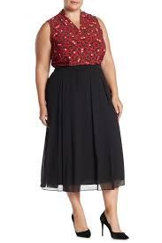 Anne Klein Plus Size Chart Anne Klein Suburst Pleated Skirt Plus Size Hautelook