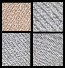 from top left untreated co um and fine grain canvas