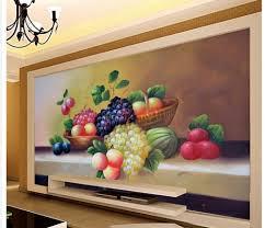 Foto 3d Behang Fruit Olieverf Decoratieve Achtergrond Muur Mural 3d
