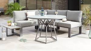 round glass garden table set