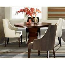 excellent round brown wooden round dining table and 4 curved arm chairs dining room chairs set of 4 decor