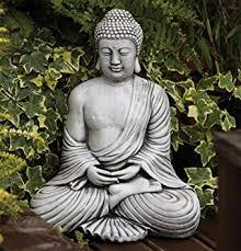 buddha garden statue.  Garden Statues U0026 Sculptures Online Large Garden Ornaments  Serene Thai Stone Buddha  Statue In Amazon UK