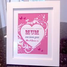 wonderful mum mothers day print