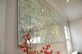 wall art for home office. Home Decoration: Elegant Art Broken Glass Mirror And Wall Mirrors With  Beautiful Red Flower For Wall Art For Home Office C