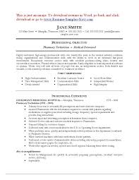 Lab Technician Resume Medical Laboratory Assistant Resume Sample