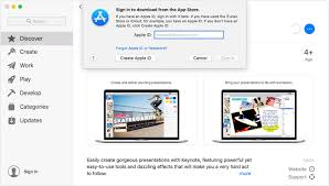 a window of the app on mac showing the keynote app information page in the