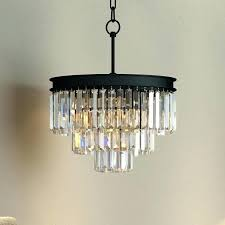 crystal and black chandelier black glass chandelier 3 tier crystal prism fringe glass chandelier restoration lighting