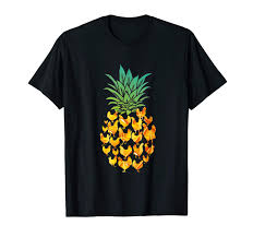 T Shirt With Pineapple Design Amazon Com Pineapple Design Is Made From Chickens T Shirt