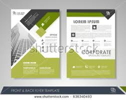 Green Brochure Template Green Annual Report Leaflet Brochure Flyer Template Design Book And