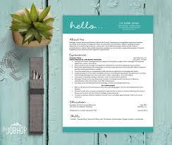 Hello Resume Template Unique Resume Downloadable Resume Cover