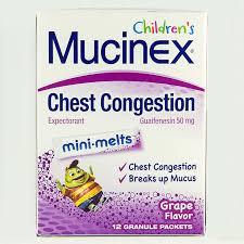 children s mucinex mini melts dosage