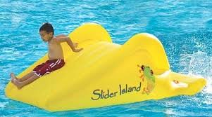 inflatable inground pool slide. 18 Blue Yellow Inflatable Inground Pool One Lane Water Slide Wet Or Dry Commercial L