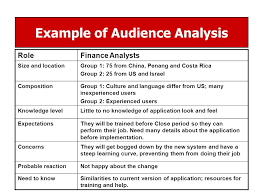 audience analysis example topics for week 3 assignments turned in ppt download