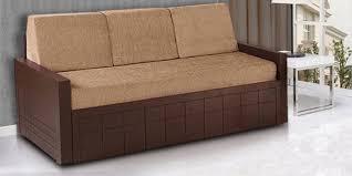 sofa cum bed. Madelyn Sofa Cum Bed In Brown Colour By Auspicious Home L