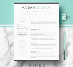 Resume Template Modern Awesome Resume Templates Hired Design Studio