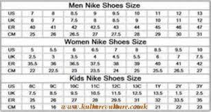 Nike Boys Size Chart
