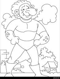Giant Coloring Page Come Test Your Strength Says The Giant Coloring