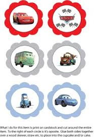 Cupcake Toppers Cars Party Decorations Free Printable Ideas From